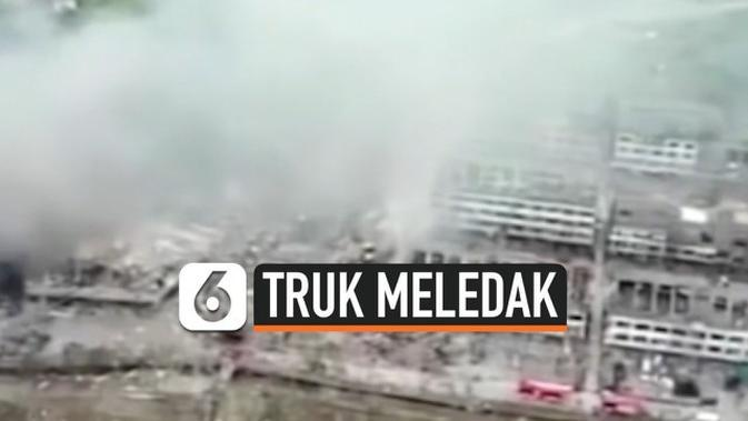 VIDEO: Truk Pembawa Gas Cair di Cina Meledak, 19 Meninggal, 172 Orang Terluka