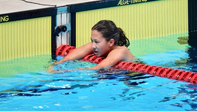 Perenang putri junior Indonesia, Elysha Chloe Pribadi (Dok. Pribadi)