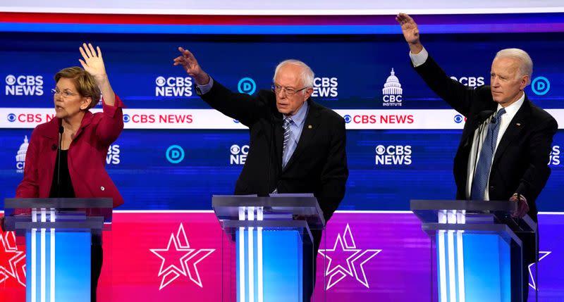 Biden, not Sanders, gains in popularity after Warren drops out - Reuters/Ipsos