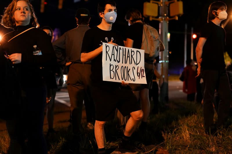 FILE PHOTO: Protesters rally against racial inequality and the police shooting death of Rayshard Brooks, in Atlanta