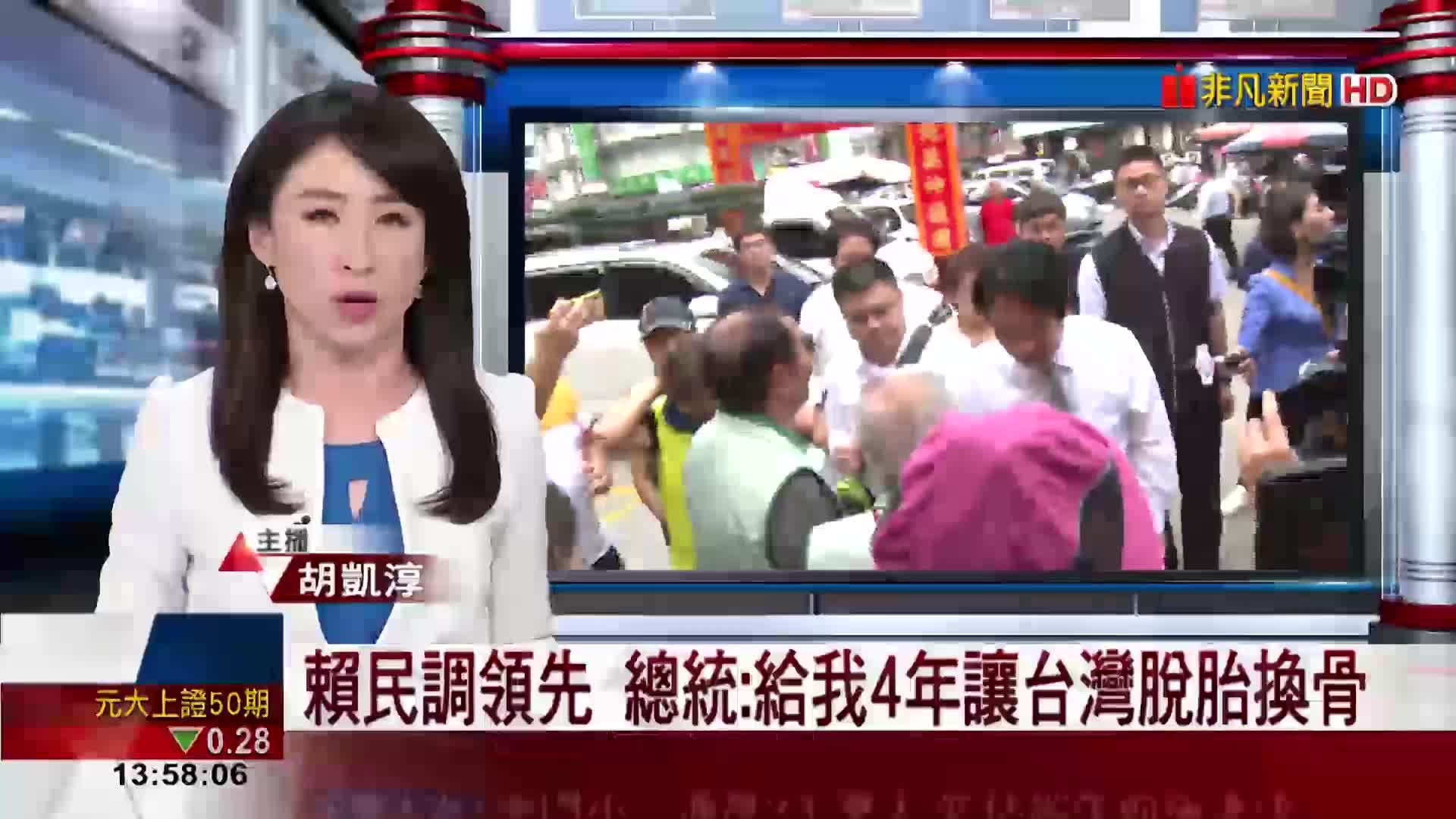 賴民調領先 總統:給我4年讓台灣脫胎換骨