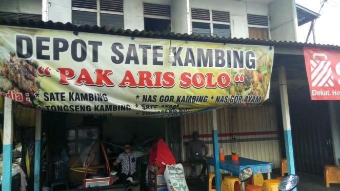 Sate dan Tongseng Kambing Pak Aris di Kalimantan.