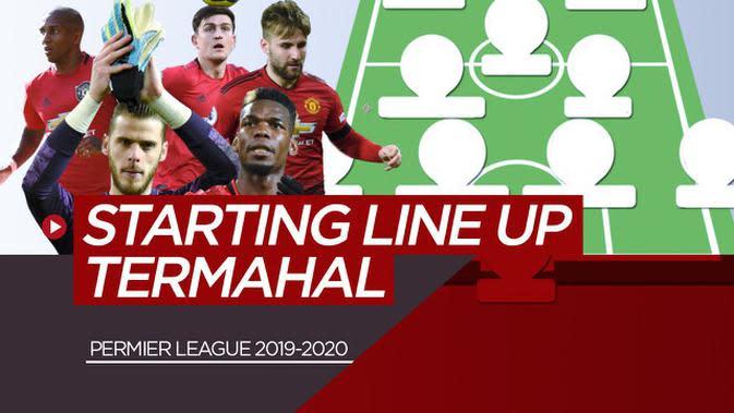 VIDEO: Starting Line Up Premier League Termahal Musim Ini