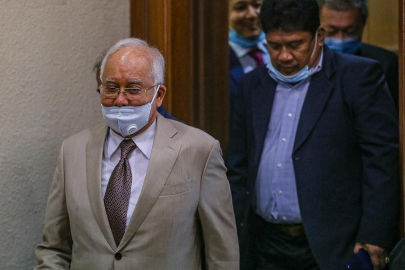 Datuk Seri Najib Razak leaves the Kuala Lumpur Court Complex June 30, 2020. — Picture by Hari Anggara