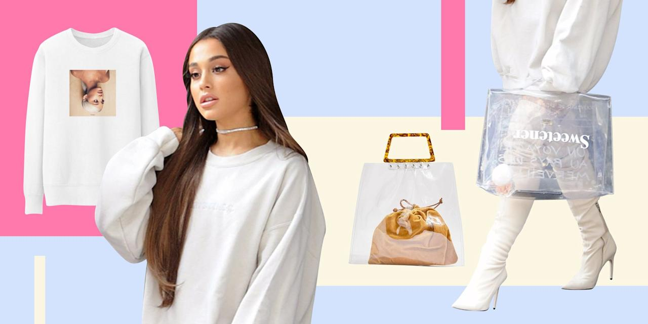 "<p>To be completely honest, when it comes to <a href=""https://www.seventeen.com/fashion/style-advice/tips/g441/ariana-grande-red-carpet-style/"" target=""_blank"">Ariana Grande's style</a>, you could probably (okay, most definitely) just get an oversized Sweetener sweatshirt and <a href=""https://www.seventeen.com/fashion/style-advice/g25671467/knee-high-boot-outfit-ideas/"" target=""_blank"">over-the-knee boots</a>, and call it a day. But if you are looking to mimic some of her most iconic looks to a T — from her classic <a href=""https://www.seventeen.com/fashion/celeb-fashion/news/a36749/lampshading-is-the-crazy-new-street-style-trend-kendall-and-kylie-jenner-swear-by/"" target=""_blank"">""lampshade""</a> outfit to her Pete-Davidson-lollipop look — you've come to the right place. </p><p>Even for us non-pop stars, Ari's vibe still is surprisingly easy to pull off, as long as you're comfortable rocking the <a href=""https://www.seventeen.com/fashion/celeb-fashion/a28983144/ariana-grande-wears-vsco-girl-outfit-crocs/"" target=""_blank"">no-pants look</a>, that is. Her genius outfit formula consists of an oversized top or mini dress, accessorized with a pair of hot af thigh-high boots. The combo takes little to no effort, but looks smokin' hot every single time. Ahead, cop affordable lookalikes to all her best outfits.</p><p>And if you're trying to channel Ari's ""thank u, next"" lewks, check out <a href=""https://www.seventeen.com/fashion/g25383202/ariana-grande-style-thank-u-next/"" target=""_blank"">this article</a>.</p>"