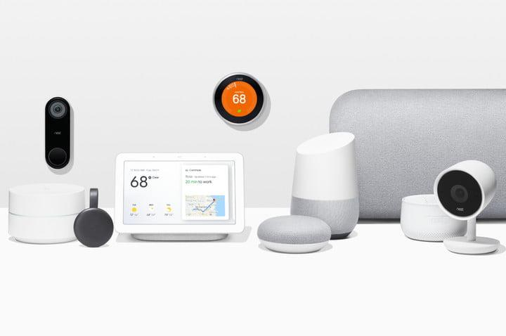 Google Nest Home devices