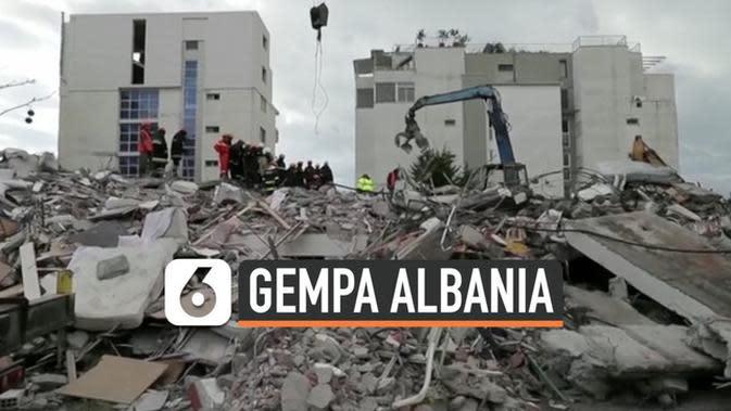 VIDEO: Korban Tewas Gempa Albania jadi 41 Orang