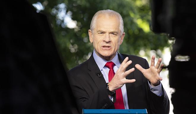 Peter Navarro, director of trade and industrial policy and Defence Production Act policy coordinator, speaking at the White House on May 7. Photo: ERA-EFE