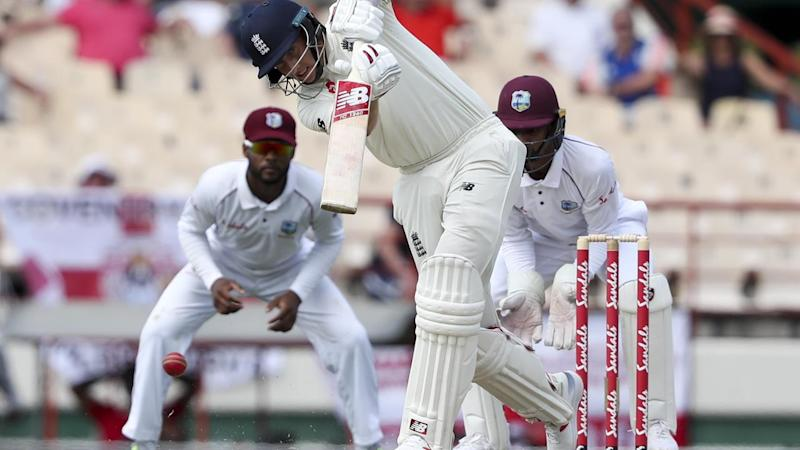 England's Joe Root was the first player to score a century in the third Test against West Indies