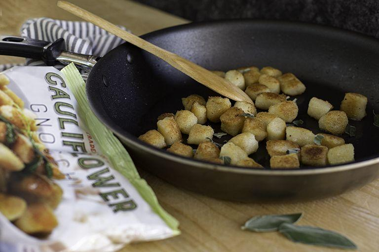 "<p>A longtime fan favorite (and for good reason), the Trader Joe's cauliflower gnocchi is made with about 75% cauliflower. No wheat, sugar, dairy or eggs in this gnocchi as well. <strong>Pro tip from our Senior Testing Editor Nicole Papantoniou in the Good Housekeeping Institute Kitchen Appliances & Technology Lab:</strong> Throw the cauliflower gnocchi in the air fryer!</p><p><strong>RELATED:</strong> <a href=""https://www.goodhousekeeping.com/food-recipes/healthy/g154/healthy-dinner-recipes/"" target=""_blank"">81 Best Healthy Dinner Ideas You'll Want to Make Tonight</a></p>"