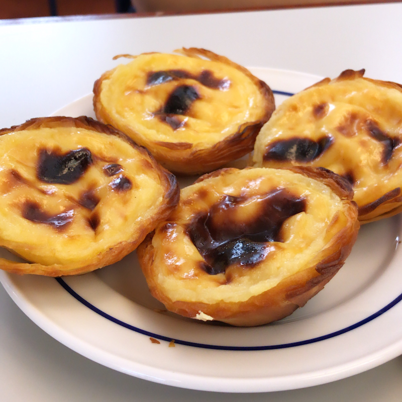 The famous Portuguese egg tart served at Pastéis de Belém in Lisbon. Photo: Yahoo Lifestyle Australia