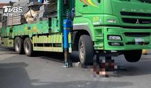 高市路竹區大貨車擦撞單車 79歲翁慘遭輾斃