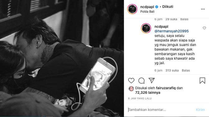 Nora Alexandra Khawatir Jerinx SID Diracun di Penjara. (instagram.com/ncdpapl)