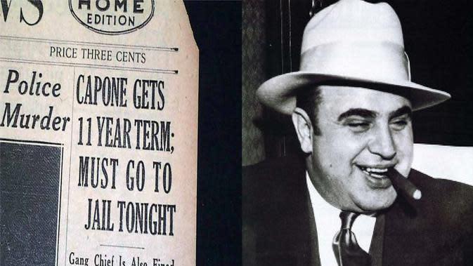 Sejarah mencatat tanggal 24 Oktober sebagai hari kejatuhan bagi gembong mafia di Chicago, Al Capone. Ia tak lagi bisa berkutik.