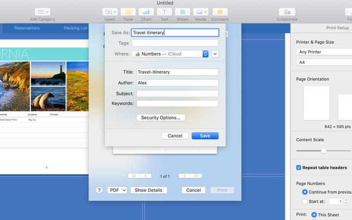 How to print to PDF in MacOS