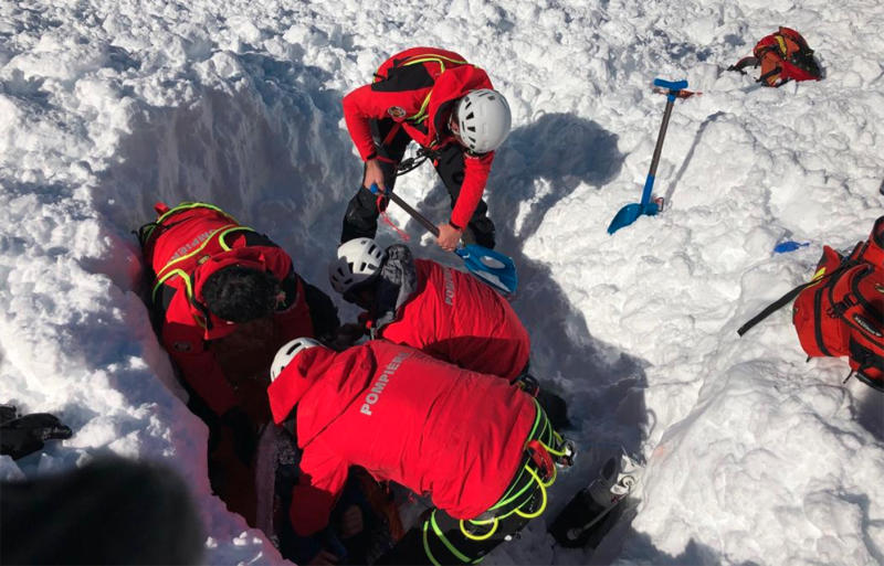 Spain avalanche sends skier tumbling down mountain