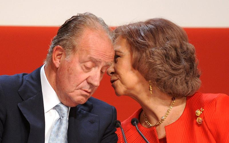 Queen Sofia of Spain has endured numerous scandals as a result of her husband's behaviour - PIERRE-PHILIPPE MARCOU/AFP