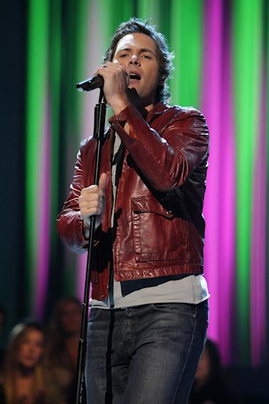 Michael Johns performs as one of the top 16 contestants on the 7th season of American Idol.
