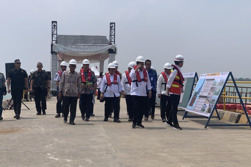 Jokowi sebut Pelabuhan Patimban senilai Rp29 triliun sesuai harapan