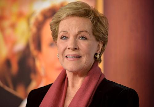 "Julie Andrews arrives at the U.S. Premiere of ""Saving Mr. Banks,"" at Disney Studios on Monday, Dec. 9, 2013, in Burbank, Calif. (Photo by Richard Shotwell/Invision/AP)"