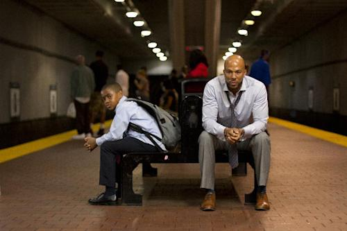 "This film image released by Indomina shows Michael Rainey Jr., left, and Common in a scene from ""Luv."" (AP Photo/Indomina, Bill Gray)"