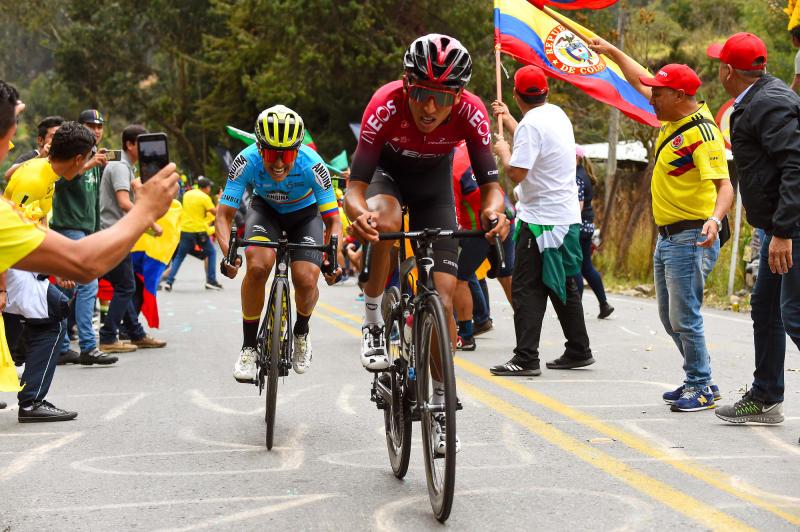 Tour Colombia 2020 3rd Edition 4th Stage Paipa Santa Rosa De Viterbo 169 km 14022020 Egan Bernal COL Team Ineos Esteban Chaves COL Mitchelton Scott photo Dario BelingheriBettiniPhoto2020