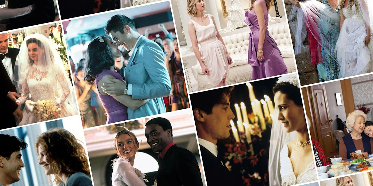 "<p>The wedding movie: a micro-subgenre that often gets the romantic comedy treatment, but isn't immune to being bathed in horror or awash in drama. Sometimes, a film with nothing but a pivotal, momentary iconic scene dedicated to the nuptials shared between two characters can earn the entire film a spot in the tiny category. Indeed, the greatest wedding movies aren't married to a formula—they are committed to emotion, authenticity, and truth. </p><p>Ahead, we've curated a list of splendid matrimonial films, some obvious and devoted entirely to all that the big day entails, others perhaps a bit more ambiguous but no less worthy. You'll laugh, you'll cry, you'll most definitely score some inspiration for that dreaded toast you <a href=""https://www.harpersbazaar.com/wedding/planning/a31673827/how-to-plan-weddings-during-coronavirus-pandemic/"">were supposed to give</a> at your best friend's wedding. Because, hey, even though the current lockdowns have <a href=""https://www.harpersbazaar.com/culture/features/a32308999/love-in-the-time-of-covid-19-new-couple-living-together/"">us all stuck inside</a>, it is wedding season after all. Or at least it can be—on our screens.</p>"