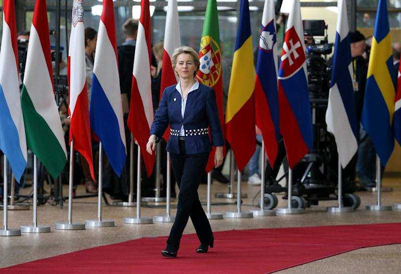 President of the European Commission Ursula von der Leyen arrives for the December European Council in Brussels on Dec. 12, 2019. | Jean Catuffe—Getty Images