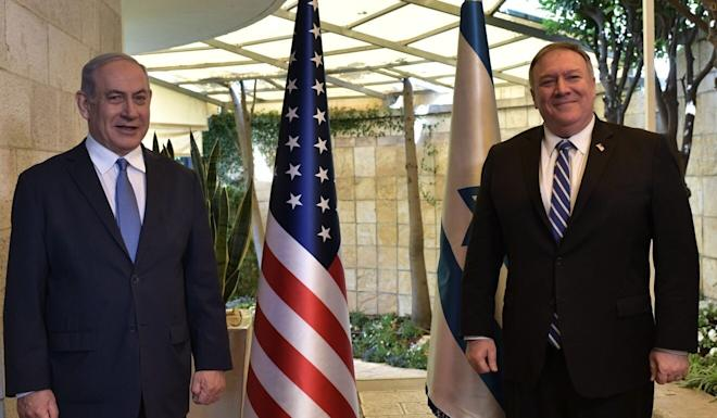 US Secretary of State Mike Pompeo (right) pictured with Israeli Prime Minister Benjamin Netanyahu said Chinese investment could put Israeli citizens at risk. Photo: DPA
