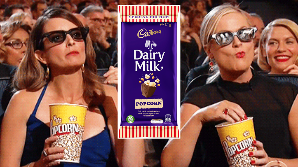 <p>The chocolate brand has introduced what could be deemed the ultimate movie snack – chocolate and popcorn all in the one block! Photo: Cadbury </p>