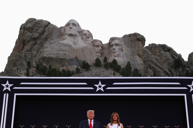 Trump attacks 'left-wing cultural revolution' in Mount Rushmore address