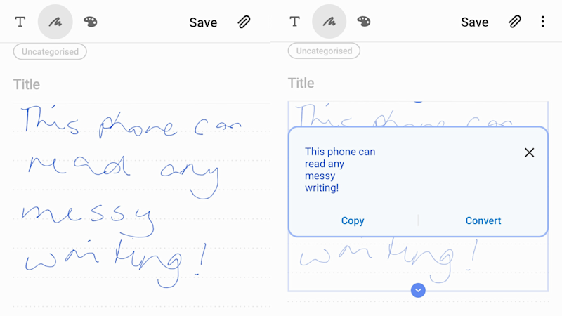 Apologies for my shocking handwriting, but look at that – the Notes app didn't miss a beat. Picture: Supplied screenshot