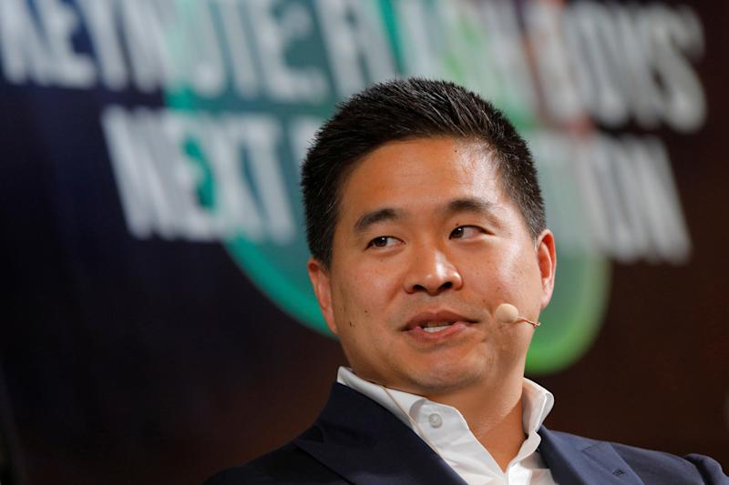 Brad Katsuyama, CEO and co-founder of IEX, speaks at the 2017 Forbes Under 30 Summit in Boston, Massachusetts, U.S. October 2, 2017. REUTERS/Brian Snyder