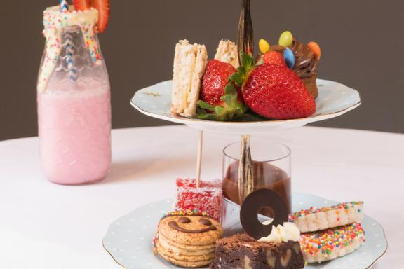 <p>Veruca Salt, eat your heart out. The Intercon Double Bay also offers a Children's High Tea featuring mini delights served with a choice of hot chocolate or soft drink. Little guests can enjoy toasties and fairy bread, and sweets such as banana chocolate Smarties cupcake and smiley macaron. Picture: Intercontinental Double Bay </p>