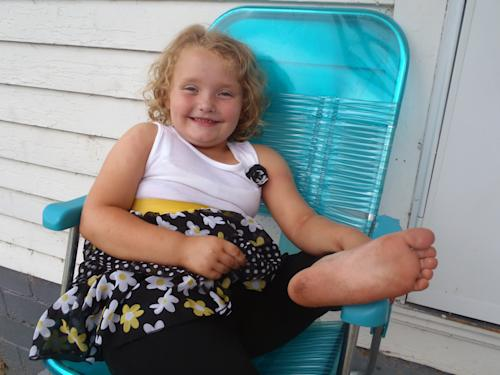"This undated publicity photo released by TLC shows Alana, better known as Honey Boo Boo, in McIntyre, Ga. The second season of ""Here Comes Honey Boo Boo,"" premieres on Wednesday at 9 p.m. EST. (AP Photo/TLC)"
