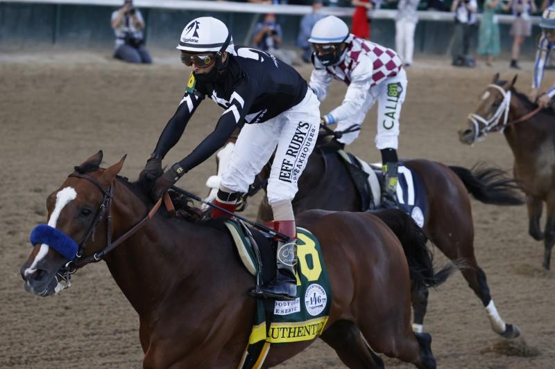 Authentic holds off Tiz the Law to win Kentucky Derby