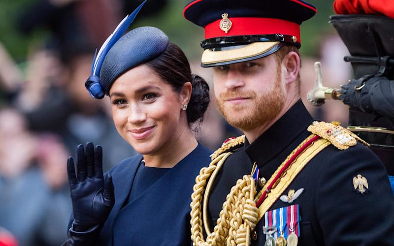 Prince Harry and Meghan at Trooping The Colour in 2019 - WireImage