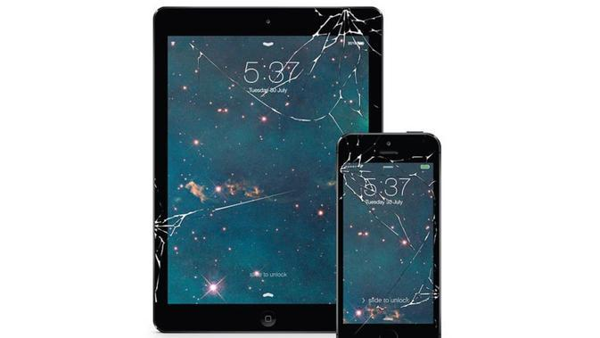 Fake Cracked Screen Protector. Dok: androidauthority.com