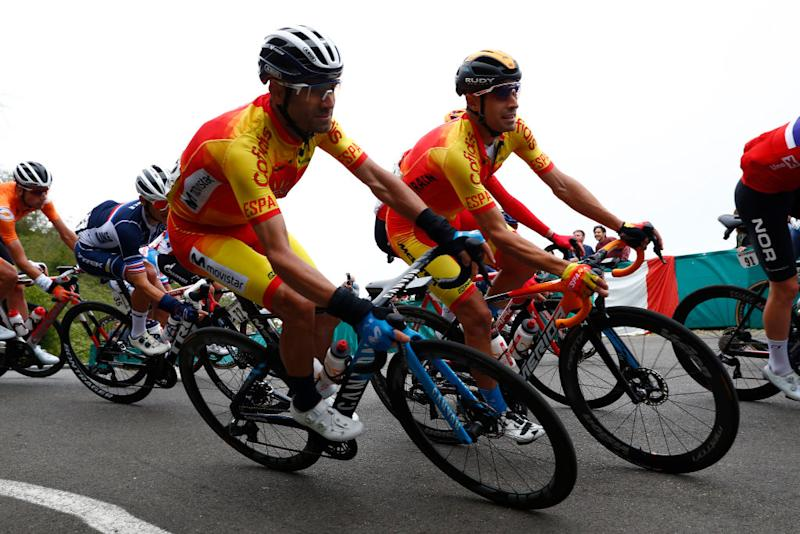 Alejandro Valverde during the Imola World Championships