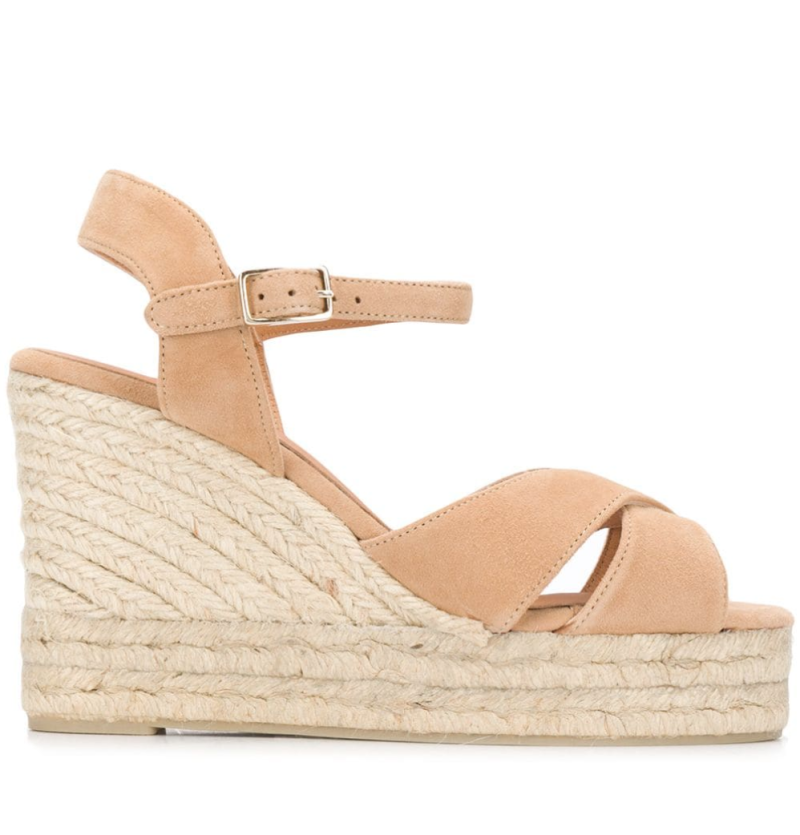 Castañer crossed-strap wedge sandals. Image via Farfetch.
