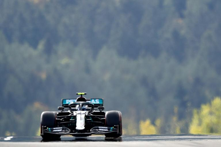 Bottas on top, Hamilton second, sick Stroll absent