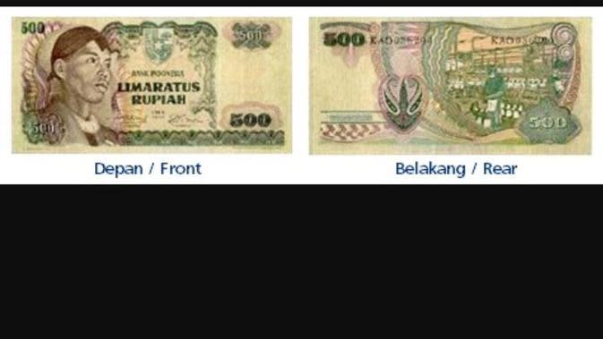 Rp 500/Tahun Emisi 1968 - Sudirman (warna hijau). (Foto: BI)