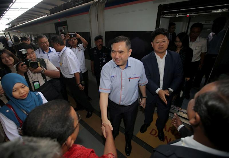 Transport Ministry Anthony Loke and Chinese Ambassador to Malaysia Bai Tian (right) visit China Railway Rolling Stock Corp's Rolling Stock Centre in Batu Gajah January 3, 2019. — Picture by Farhan Najib
