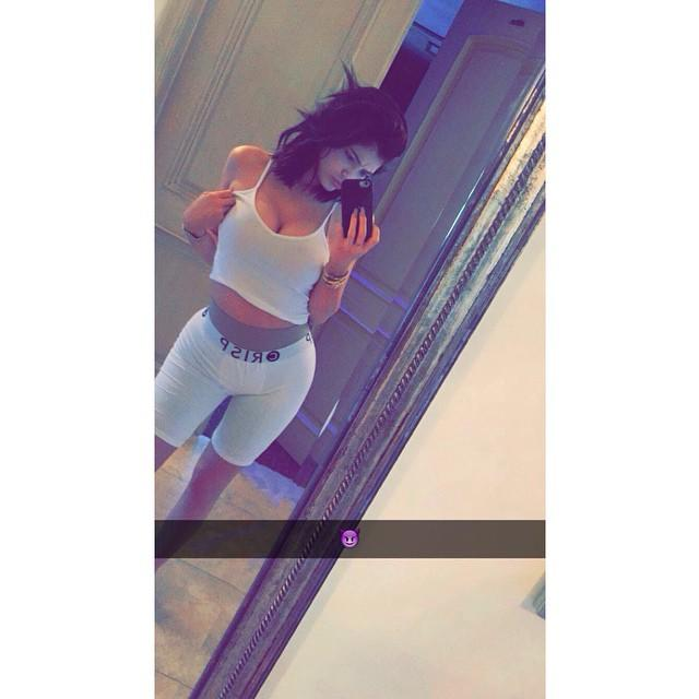 Kylie Jenner Models Tyga's Boxer Briefs on Snapchat