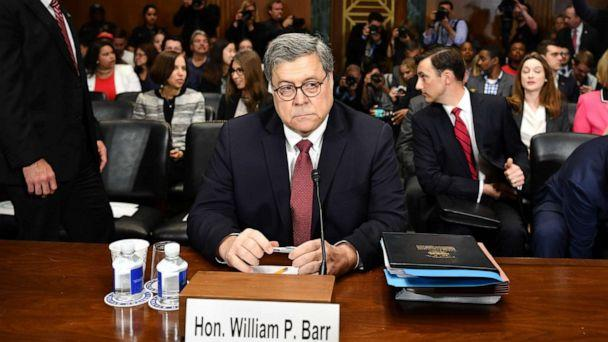 PHOTO: Attorney General William Barr prepares to testify before the Senate Judiciary Committee in Washington, May 1, 2019. (Mandel Ngan/AFP/Getty Images)