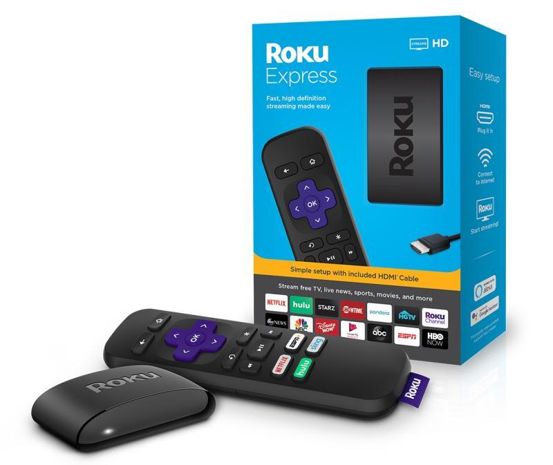 At $29, the Roku Express is Roku's entry-level streaming box. (Image: Roku)