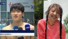 接連兩次成功追星的選手!繼ITZY禮志之後,BLACKPINK Jennie也為韓國游泳小將黃善宇應援