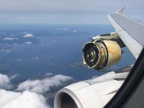 engine Air France A380 superjumbo