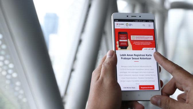 Registrasi pelanggan prabayar Telkomsel mendapatkan bonus internet 10GB (Foto: Telkomsel)