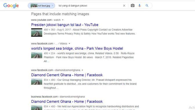 Hasil penelusuran Google Image.
